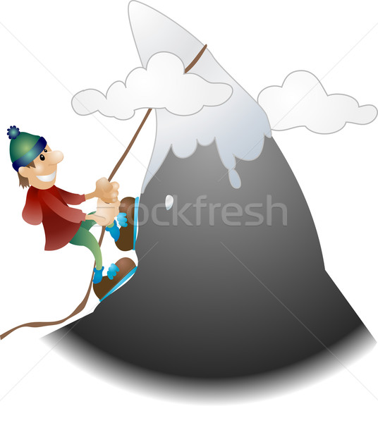 mountain climber illustration Stock photo © Krisdog
