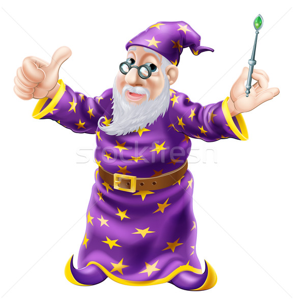 Wizard Illustration Stock photo © Krisdog