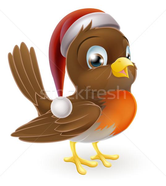 Christmas Cartoon Robin Stock photo © Krisdog