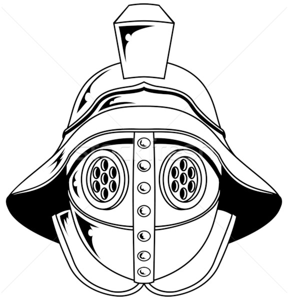 Gladyatör kask örnek dizayn Metal maske Stok fotoğraf © Krisdog