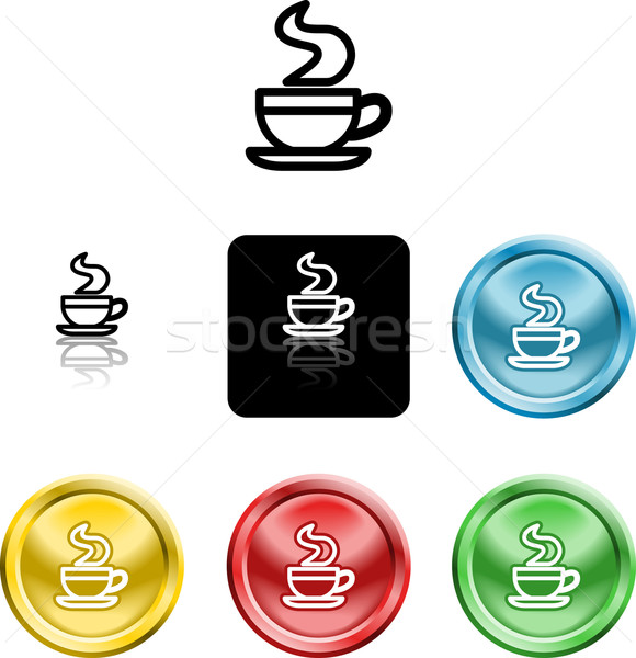 coffee cup icon symbol Stock photo © Krisdog