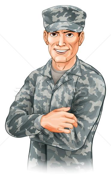 Happy soldier Stock photo © Krisdog