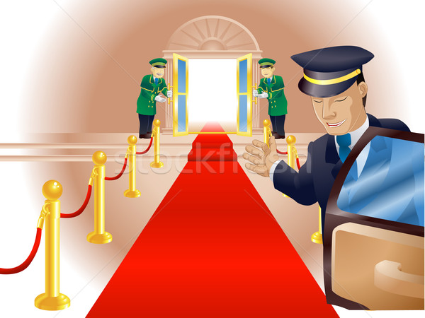 Vip tapis rouge traitement illustration point vue Photo stock © Krisdog