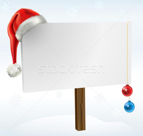 a christmas sign Stock photo © Krisdog
