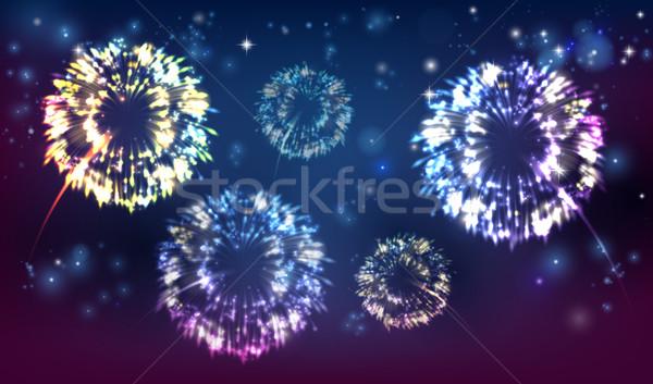 Fireworks background Stock photo © Krisdog