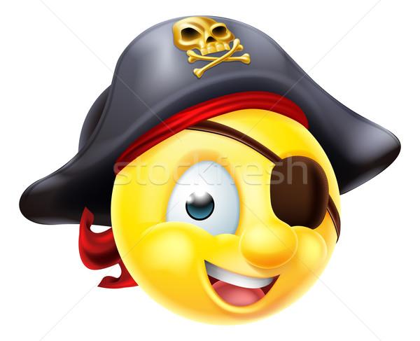 Pirate Emoji Emoticon Stock photo © Krisdog
