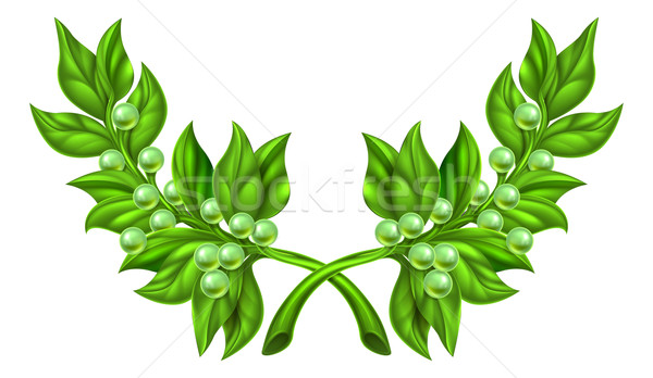 Olive Branch Wreath Stock photo © Krisdog