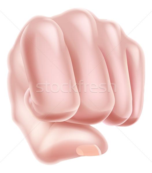 Stock photo: Fist Punching