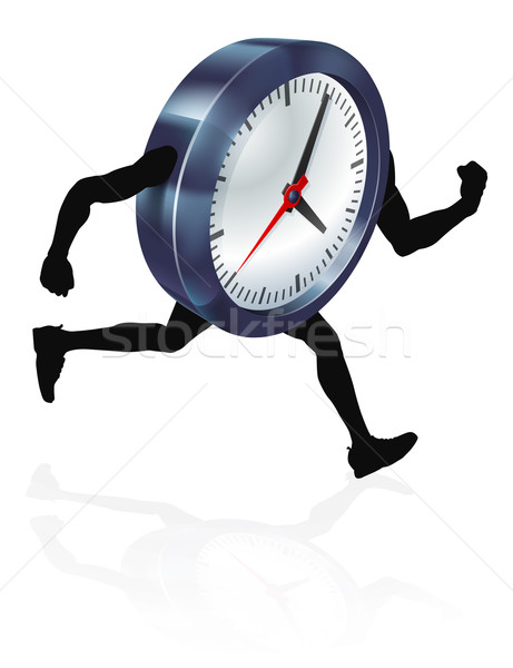 Running Time Concept Clock Stock photo © Krisdog