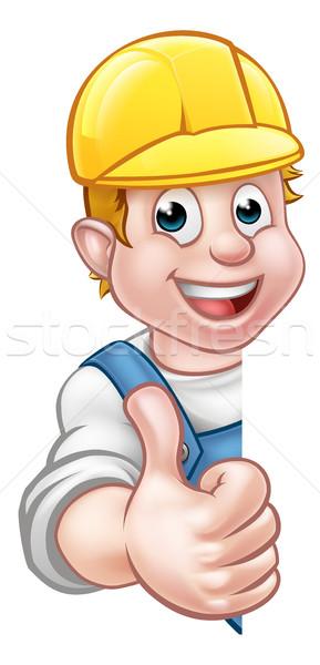 Hard Hat Handyman Carpenter Mechanic or Plumber Stock photo © Krisdog
