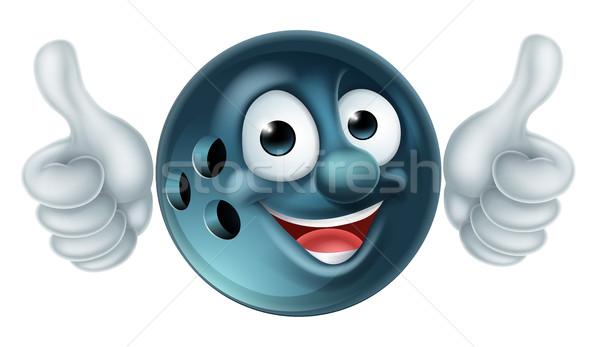Bowling Ball Cartoon Character Stock photo © Krisdog