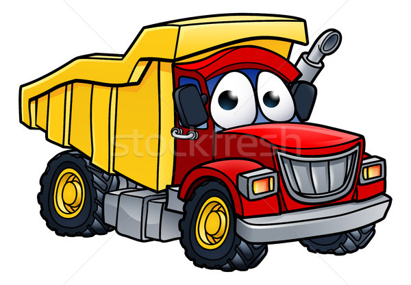 Dump Truck Cartoon Character Stock photo © Krisdog