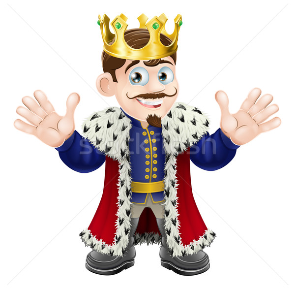 Cute koning man leuk illustratie goud Stockfoto © Krisdog
