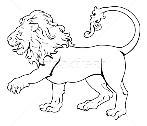 Stylised Lion illustration Stock photo © Krisdog