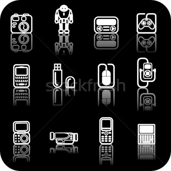 gadget icon set Stock photo © Krisdog