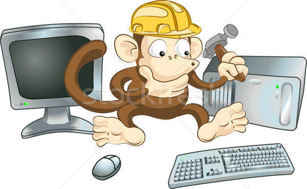 Construction monkey Stock photo © Krisdog