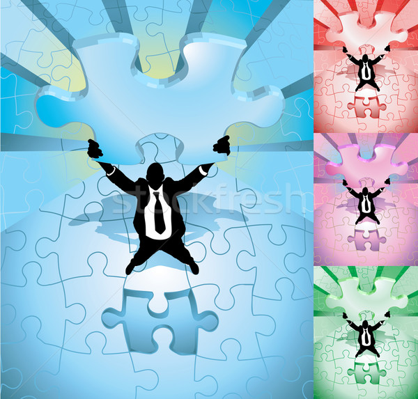 jigsaw business concept illustration Stock photo © Krisdog