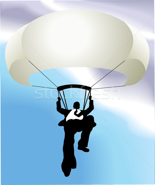 parachute man  business concept illustration Stock photo © Krisdog