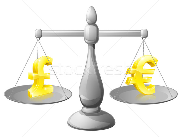 Buitenlands geld schalen valuta buitenlands uitwisseling Stockfoto © Krisdog