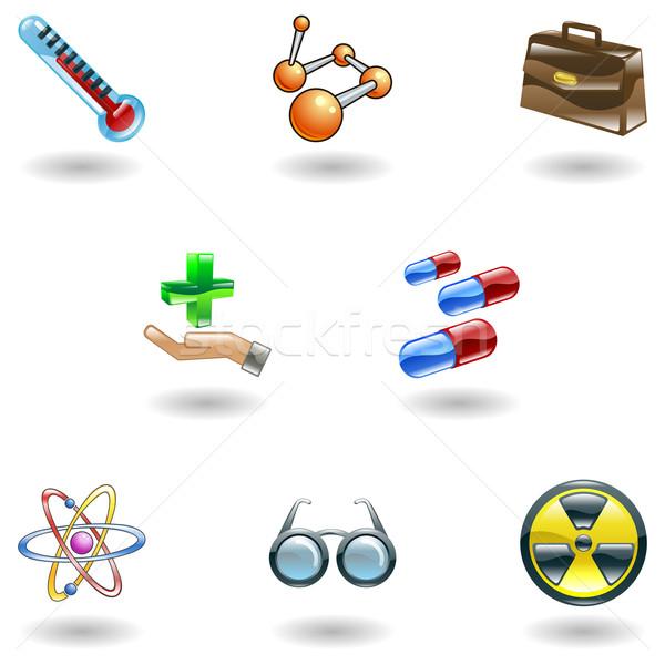 Shiny Medical Icons Stock photo © Krisdog