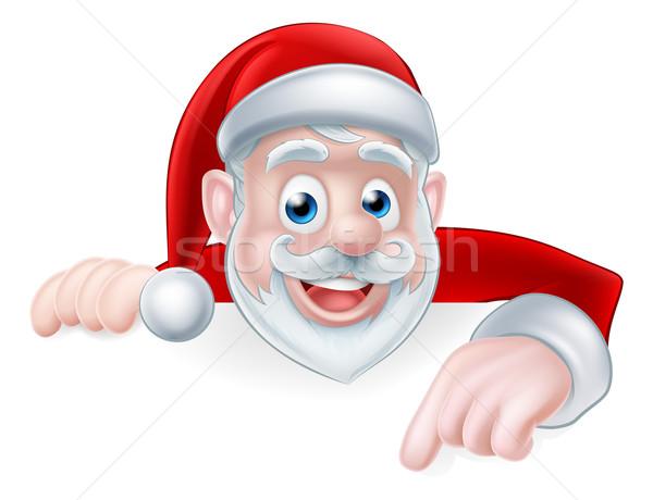 Santa Claus Pointing Stock photo © Krisdog