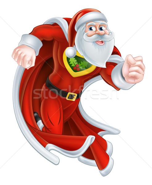 Santa Claus Christmas Superhero Stock photo © Krisdog