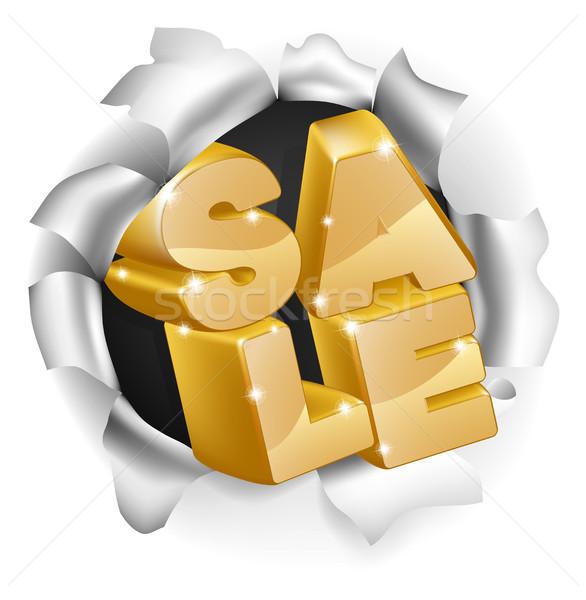 Sale Smash Concept Stock photo © Krisdog