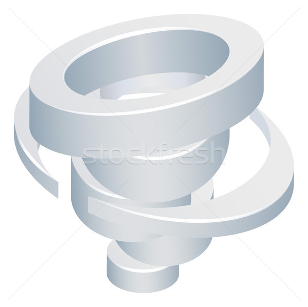 Tornado Cyclone Hurricane Twister 3d Icon Stock photo © Krisdog