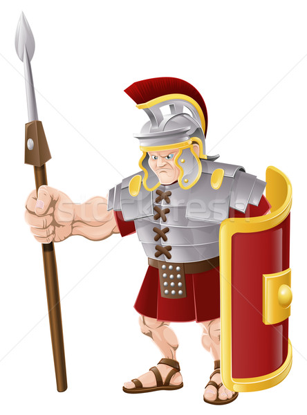 Strong Roman Soldier Illustration Stock photo © Krisdog