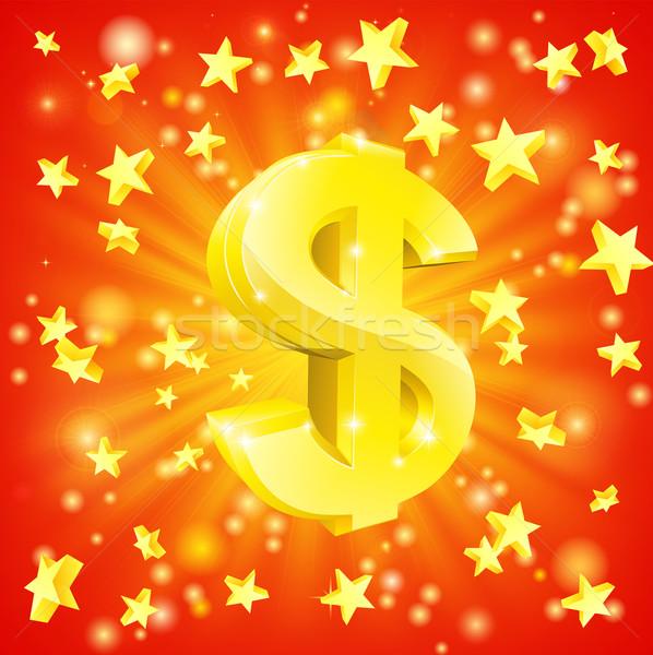 Dólar dinero estrellas emocionante financieros éxito Foto stock © Krisdog