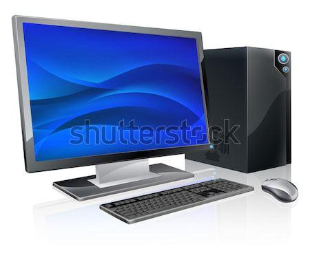Masaüstü pc bilgisayar İş İstasyonu örnek izlemek Stok fotoğraf © Krisdog