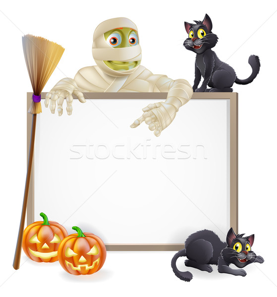 Mummy Halloween Sign Stock photo © Krisdog