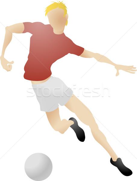Fußballer Illustration Fußballspieler Mann Fußball Fußball Stock foto © Krisdog