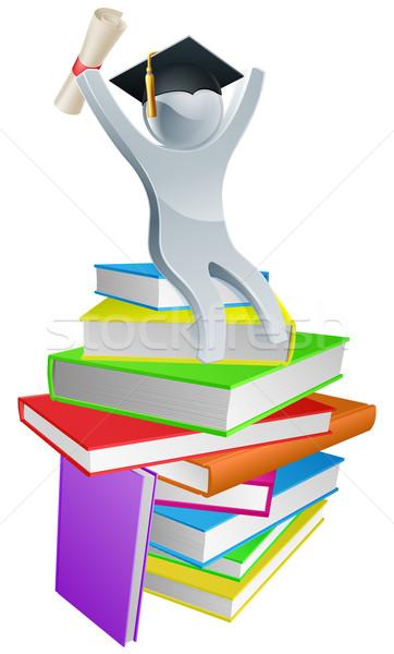 Convocation man on books Stock photo © Krisdog