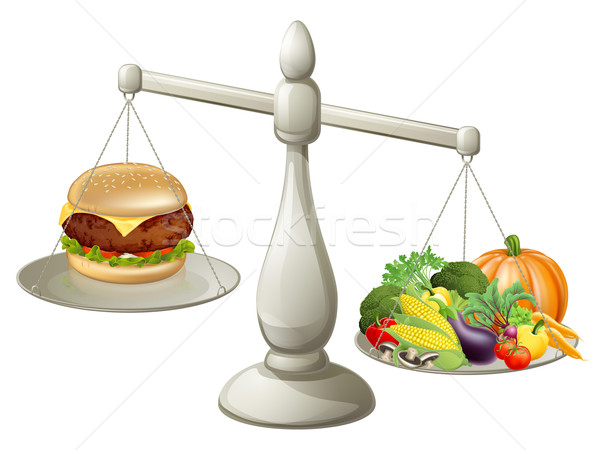 Healthy eating balanced diet Stock photo © Krisdog