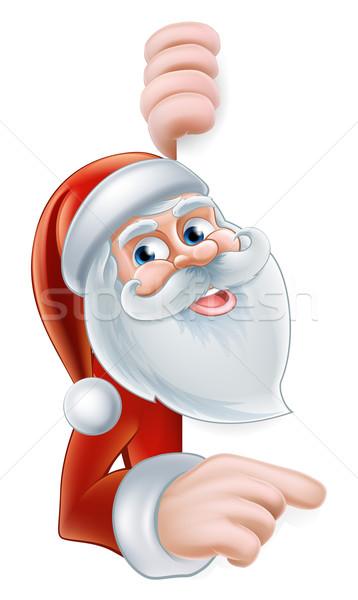 Cartoon Santa Pointing Stock photo © Krisdog