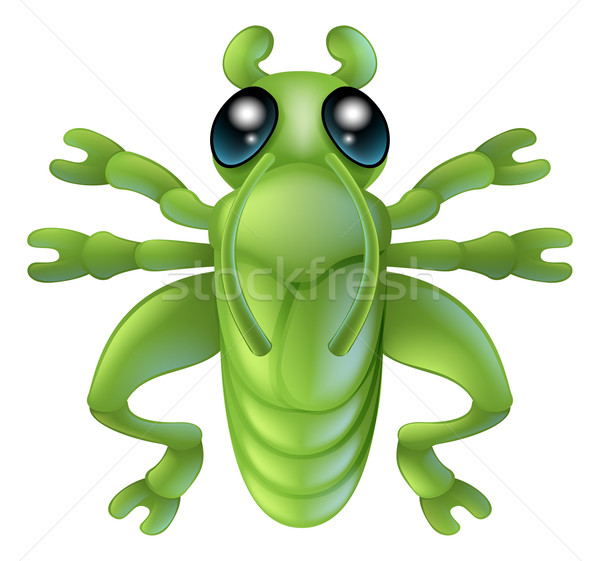 Cartoon sauterelle insecte bug illustration personnage Photo stock © Krisdog