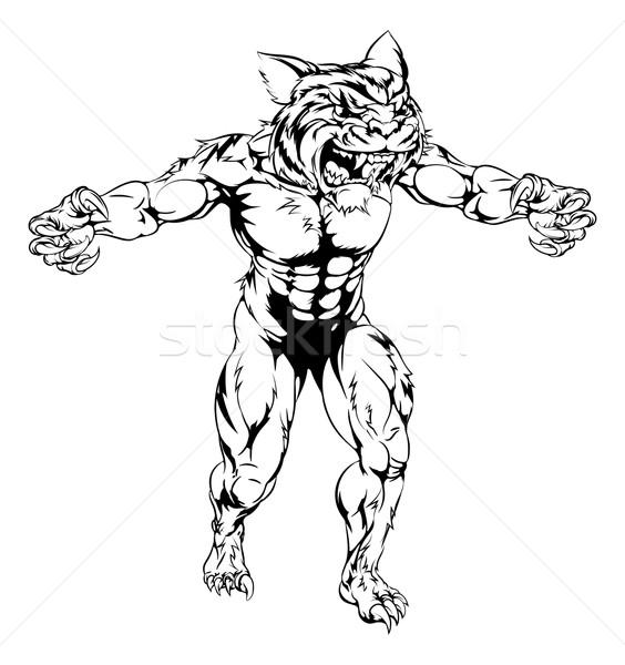 Stock photo: Tiger scary sports mascot