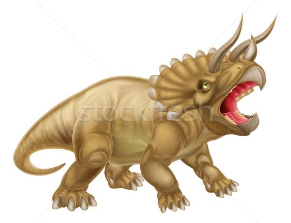 Triceratops Dinosaur Illustration Stock photo © Krisdog