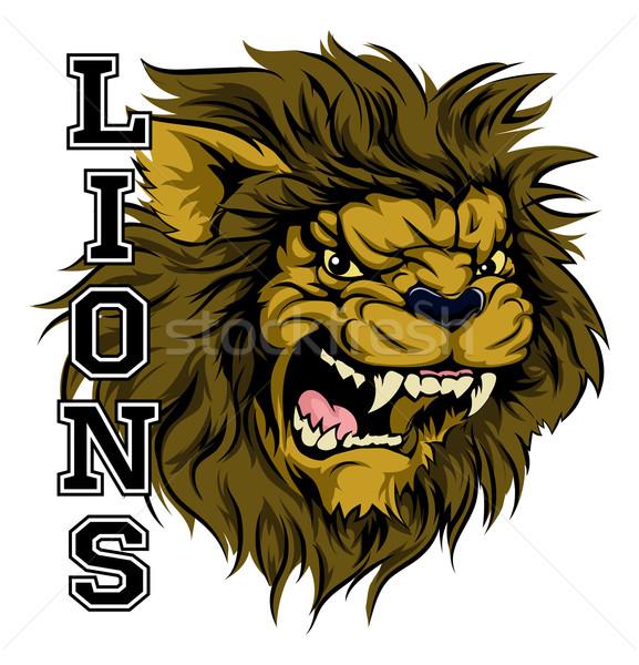 Lions Sports Mascot Stock photo © Krisdog