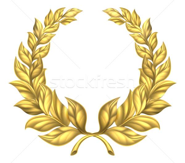 Oro laurel corona dorado ilustración Foto stock © Krisdog