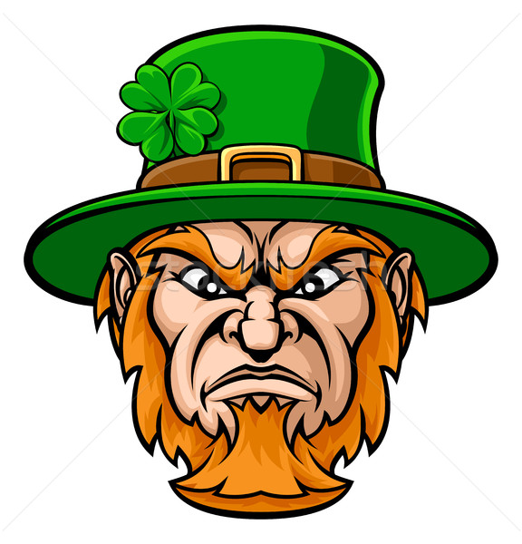 Taai cartoon St Patrick's Day karakter sport Stockfoto © Krisdog