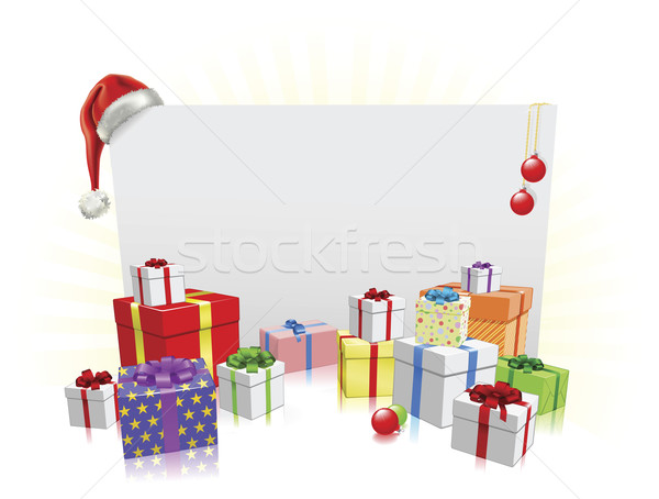 Christmas presents and sign concept Stock photo © Krisdog