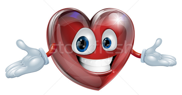 Coeur cartoon homme illustration cute souriant Photo stock © Krisdog