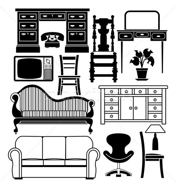 Set of furniture Stock photo © Krisdog