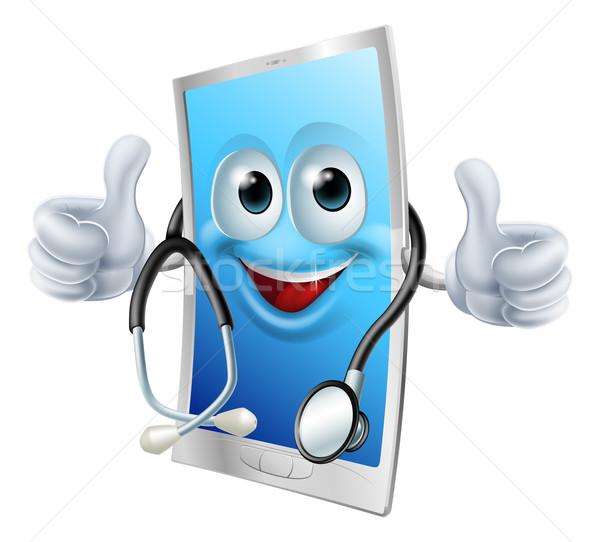 Doctor phone with stethoscope Stock photo © Krisdog