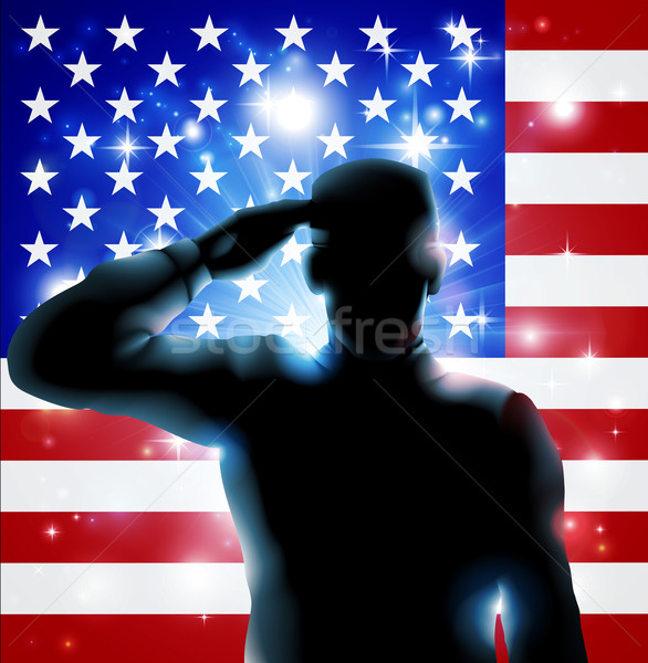 4th July or Veterans Day Illustration Stock photo © Krisdog