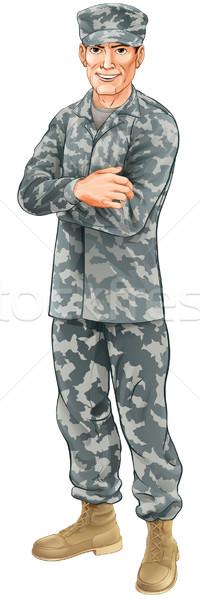 Постоянный солдата равномерный Сток-фото © Krisdog