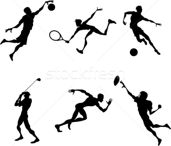 sports silhouettes Stock photo © Krisdog