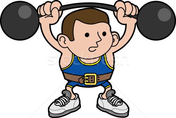Illustration of male weightlifter Stock photo © Krisdog